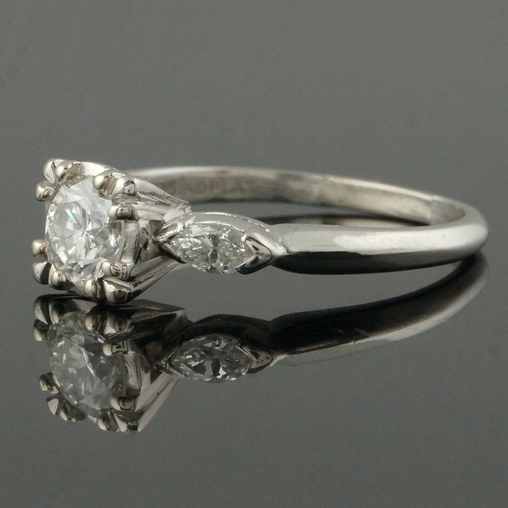 Platinum & .95 CTTW OEC Diamond Estate Engagement, Wedding Ring Santa Rosa CA Olde Towne Jewelers