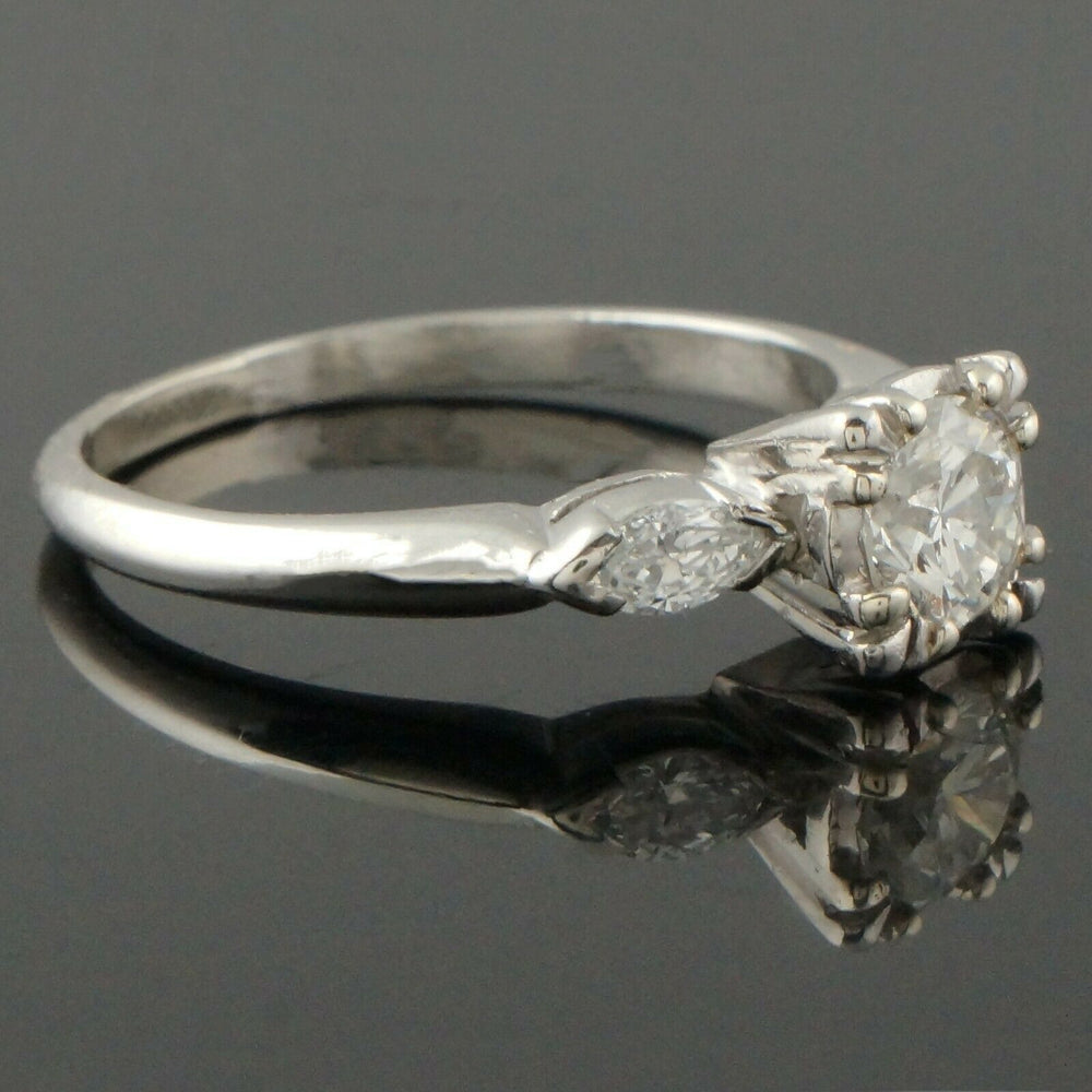 Platinum & .95 CTW OEC Diamond Estate Engagement, Wedding Ring Santa Rosa CA Olde Towne Jewelers