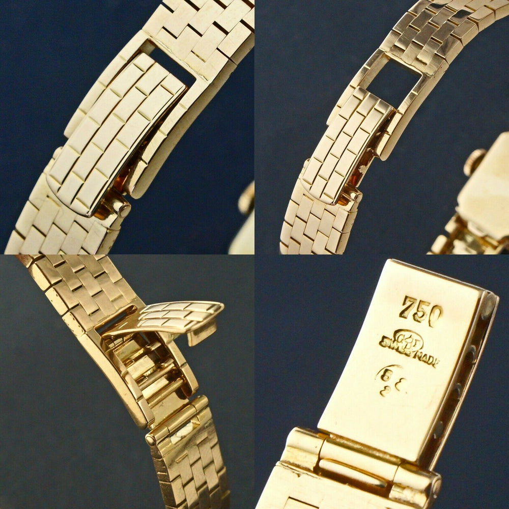 Rare Vintage Omega Solid 18K Gold Lady's Flip Top Bracelet Watch, Original Box
