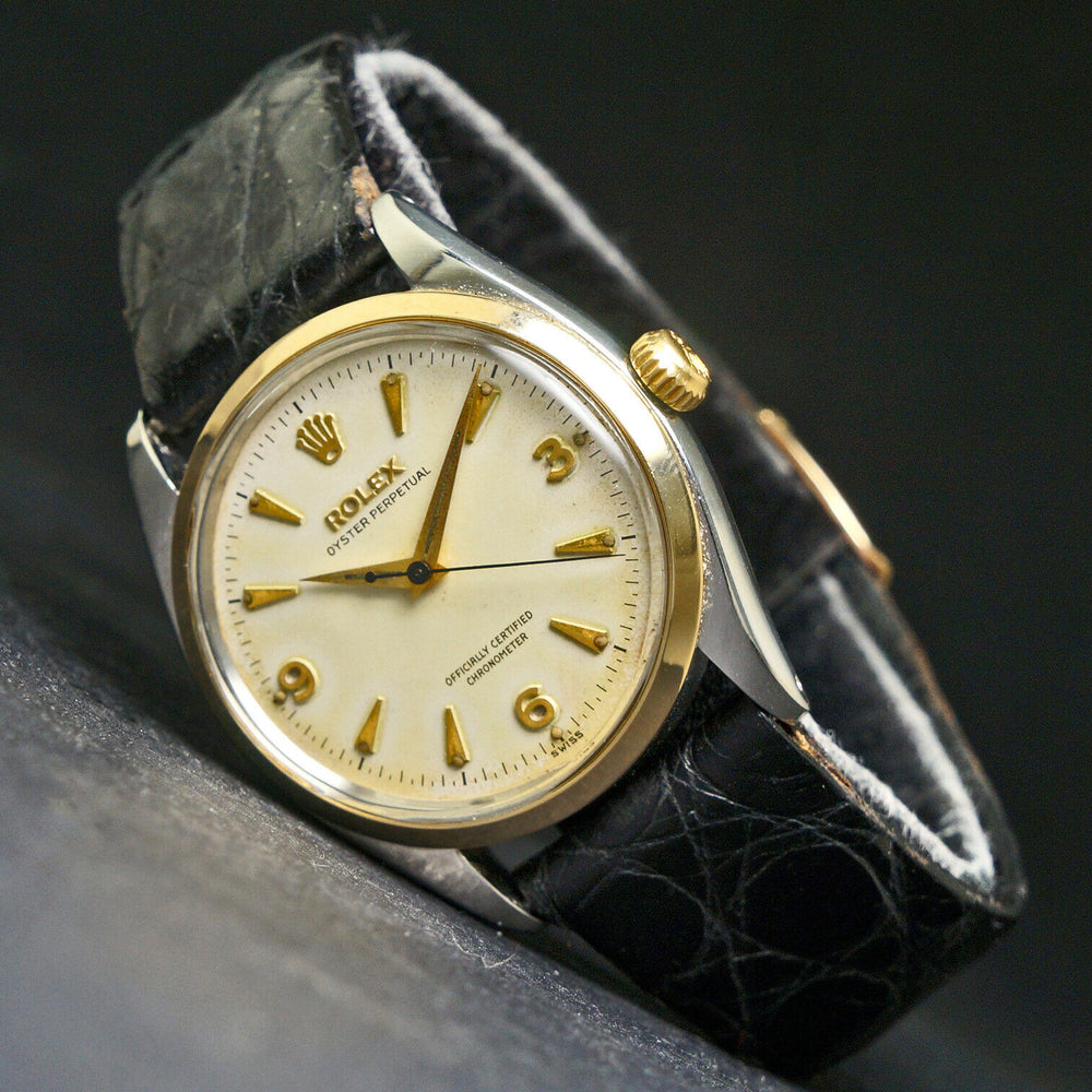 Rare 1956 Rolex 6564 Oyster Perpetual Explorer Dial, Amazing Original Example Men's Wristwatch