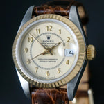 Stunning 1987 Rolex 69173 18K & Stainless Steel Lady Datejust, Original Papers, Serviced
