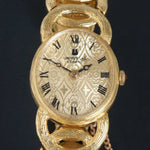 Stunning Vintage Universal Geneve Solid 18K Yellow Gold Lady's Bracelet Watch Olde Towne Jewelers