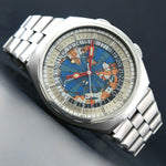 Edox Geoscope 42 GMT World Time Stainless Steel Man's Watch Olde Towne Jewelers Santa Rosa CA