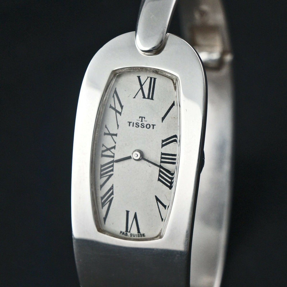 Vintage Retro Mod Tissot Sterling Silver Lady's Bracelet Watch, Amazing Condition! Women' Wristwatch