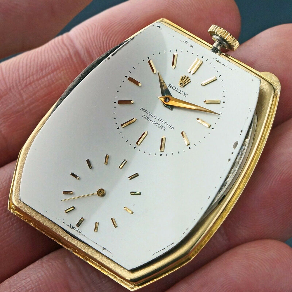 Rolex 9248 18K Gold Prince Imperial Pocket Watch, All Original