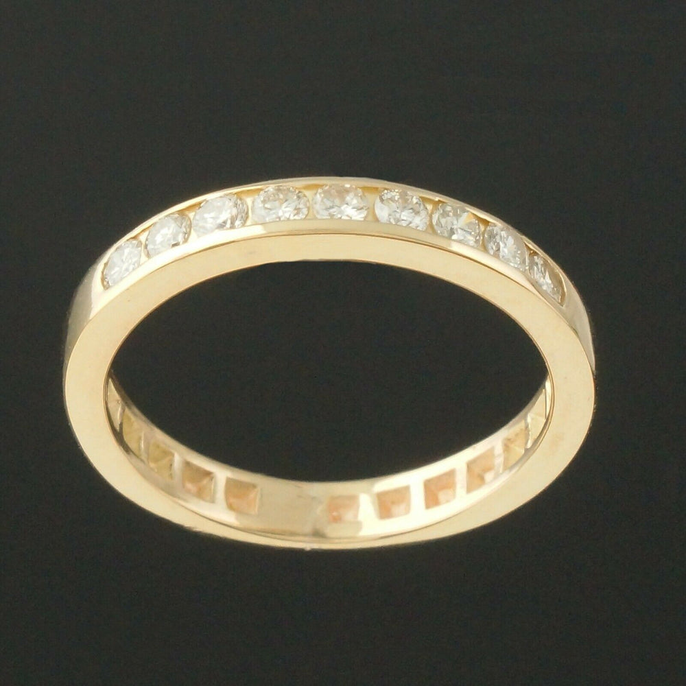 Solid 14K Yellow Gold, .32 CTTW Diamond Wedding Band, Anniversary Ring