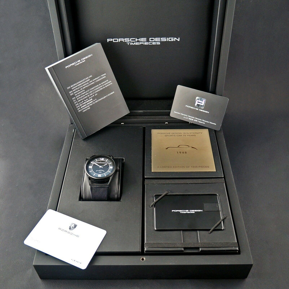 Porsche Design LTD Edition Black Titanium 70Y Automatic Datetimer Watch MINT!