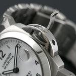 Panerai Luminor Automatic PAM 49 White Dial 40mm Steel Bracelet Watch