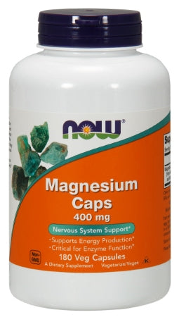 NOW  Magnesium 400 mg - 180 Capsules