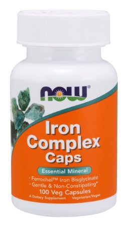 NOW  Iron Complex Caps - 100 Veg Capsules