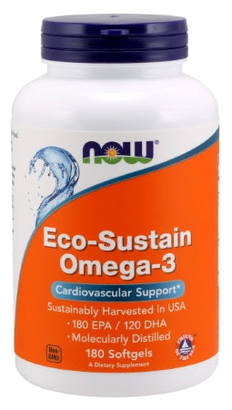 NOW  Eco-Sustain Omega-3 - 180 Softgels