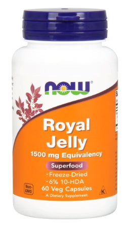 NOW  Royal Jelly - 60 Veg Capsules
