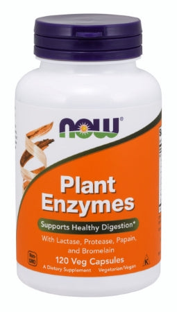 NOW  Plant Enzymes - 120 Veg Capsules