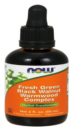 "NOW ""Green"" Black Walnut Wormwood Complex Liquid - 2 fl. oz."