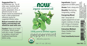 NOW  Peppermint Oil (Certified Organic) - 1 oz.