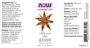 NOW Anise Oil - 1 fl. oz.