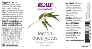 NOW  Lemon Eucalyptus Oil - 1 fl. oz.