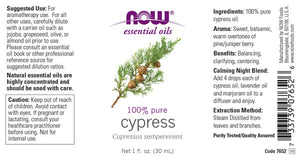 NOW  Cypress Oil - 1 oz.