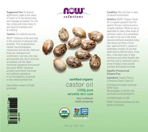 NOW  Castor Oil, Organic - 8 fl.oz.