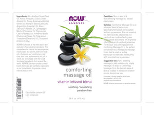 NOW  Comforting Massage Oil - 16 oz.