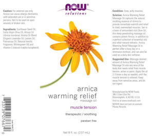 NOW Arnica Soothing Massage Oil - 8 fl. oz.
