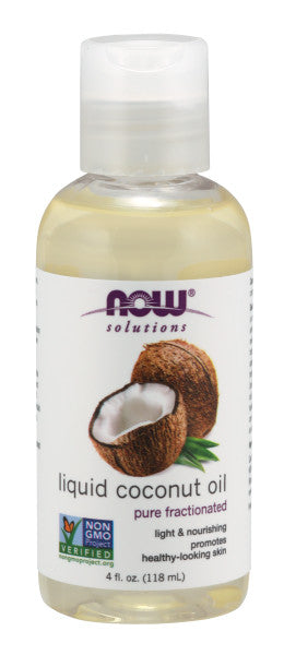 NOW  Liquid Coconut Oil - 4 fl. oz.