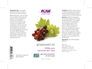 NOW Grapeseed Oil - 16 fl. oz.