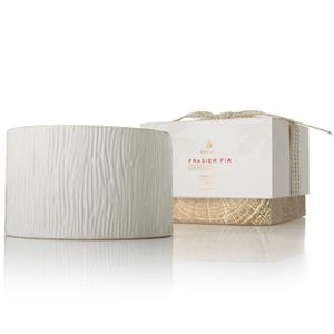 Thymes FRASIER FIR CERAMIC 3-WICK CANDLE