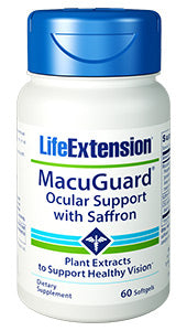 MacuGuard® Ocular Support with Saffron 60 softgels