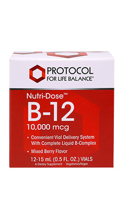B-12 10,000 MCG NUTRIDOSE 15ml 12 PACK
