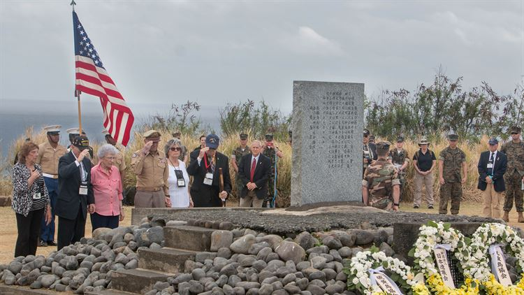WWII Veterans, Guests Remember the Battle of Iwo Jima