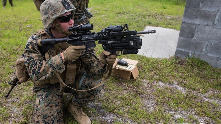 Out With The Old, In With The New: Marines Test New Grenade Launcher Module