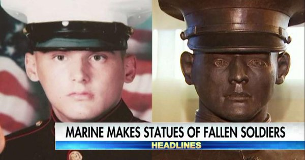 Marine Vet Makes Statues of Fallen Soldiers for their Families Free of Charge