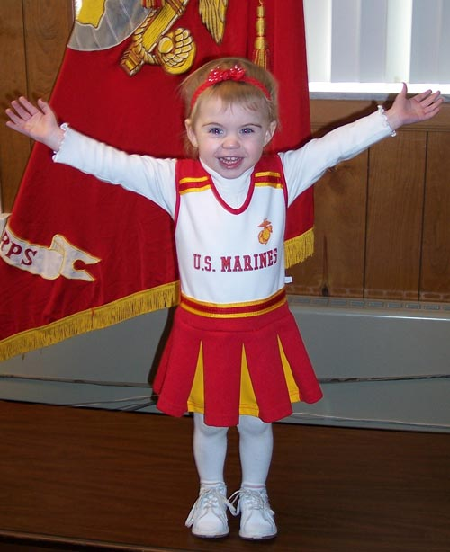 USMC cheerleading outfit