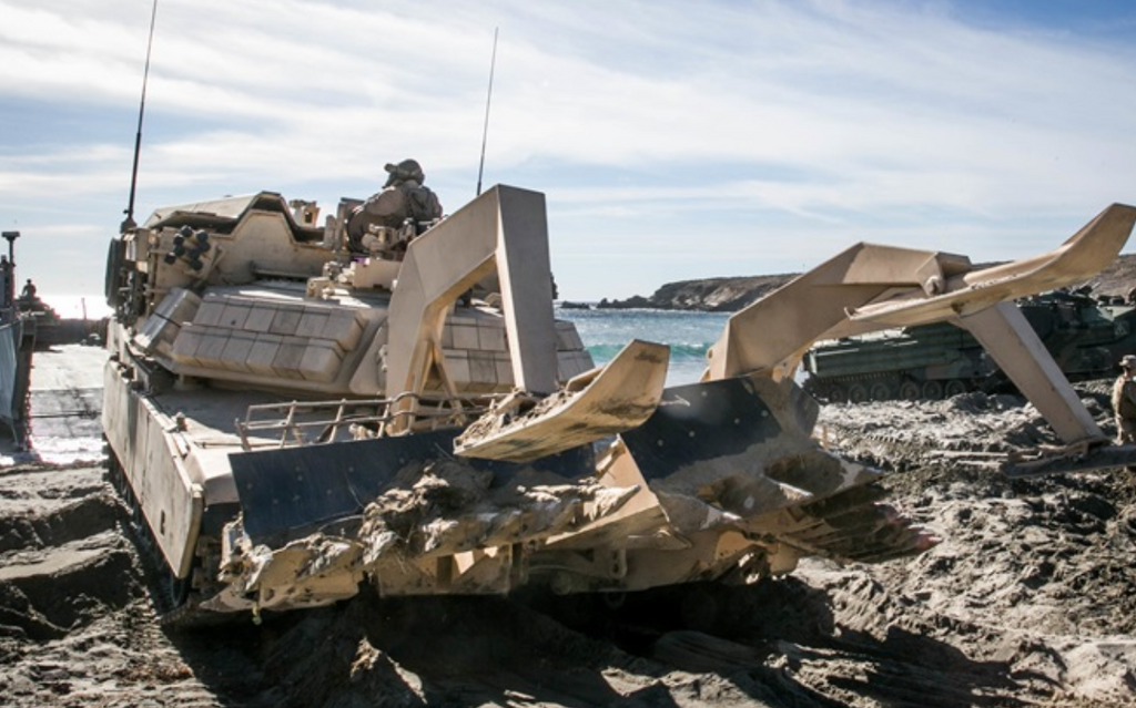 Marine Corps Makes History with Mine Plow Prototype for Assault Breacher Vehicle