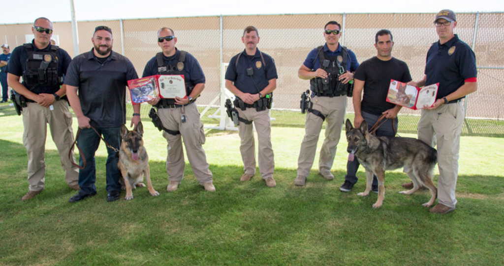 Two K9S Retired to Homes of their Handlers