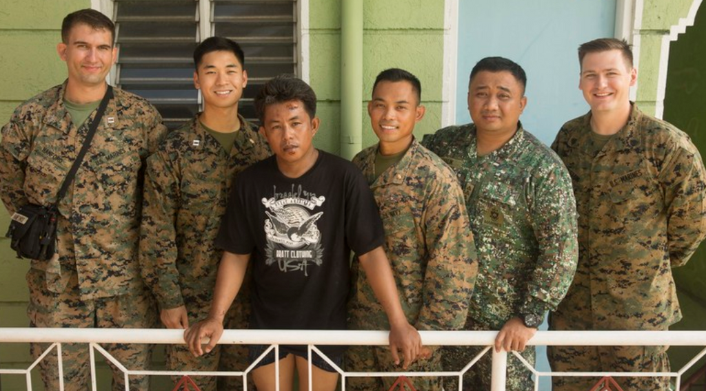 U.S. Marines and Sailors Aid in Local Accident