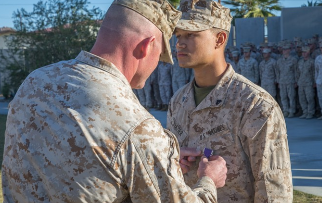Three Marines with SPMAGTF-CR-CC Earn Purple Hearts