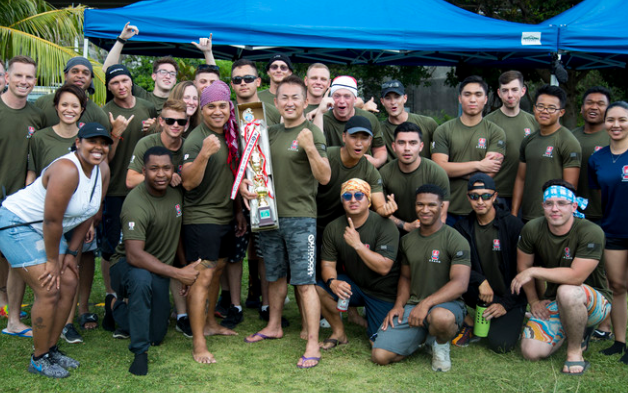"""Haarii!"" Marines, Sailors Compete in Annual Okinawan Dragon Boat Race"