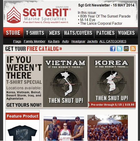 Sgt Grit Newsletter Subscribers