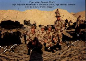 In support of Operation Desert Shield/Storm