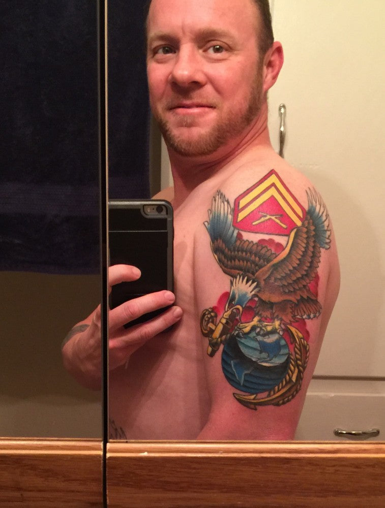 Tattoo Cover Up With USMC Pride