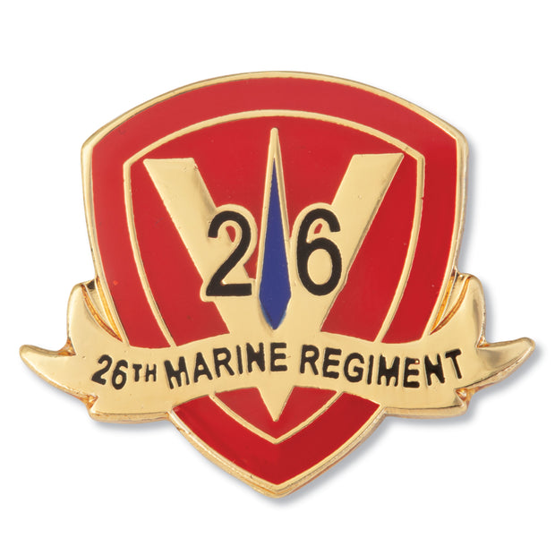 26th Marine Regiment Pin