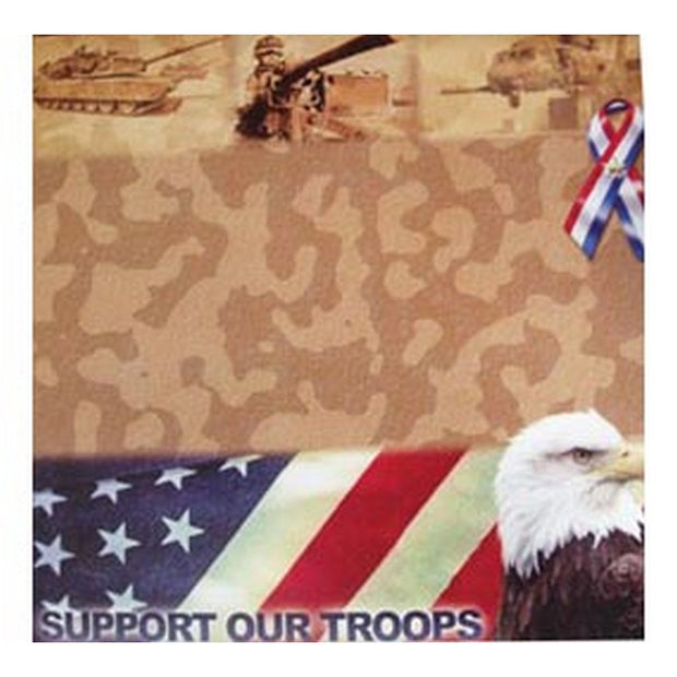 Support Our Troops Scrapbooking Paper