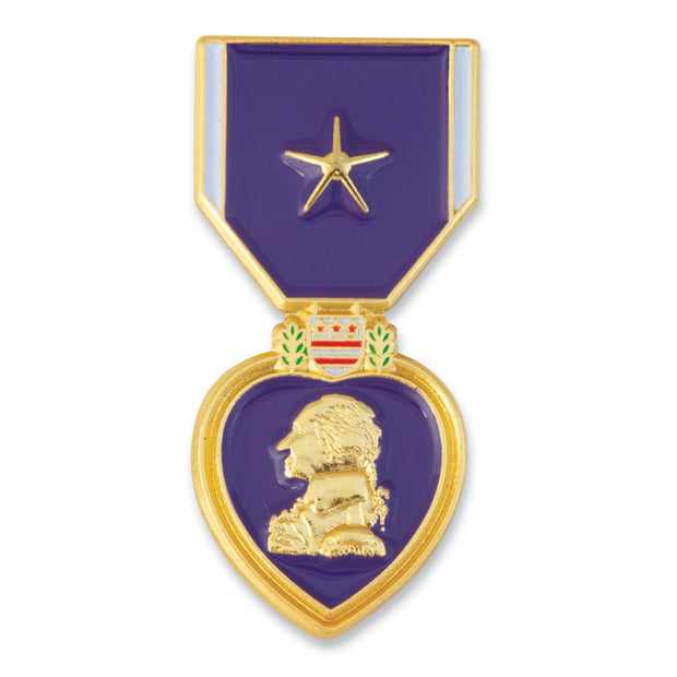Purple Heart with Gold Star Pin