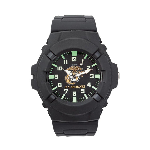 Marine Corps Watch with Black Face & Luminous Hands