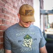 Marines Retro Bulldog T-Shirt