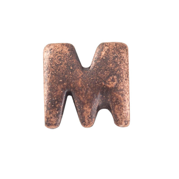 Bronze Letter M Medal Accessory