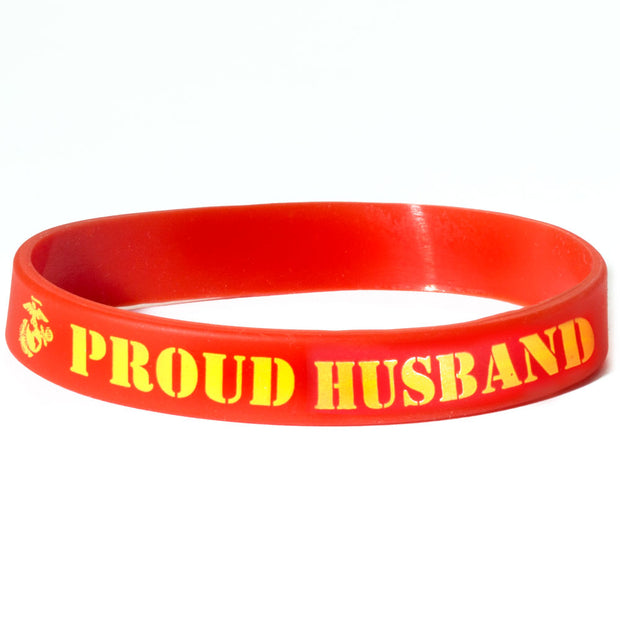 Family Member of a U.S. Marine Silicone Bracelet