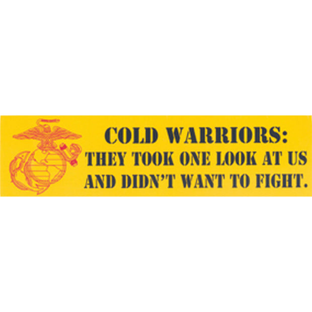 Cold Warriors: One Look Bumper Sticker